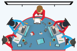 Team Work Session Graphic